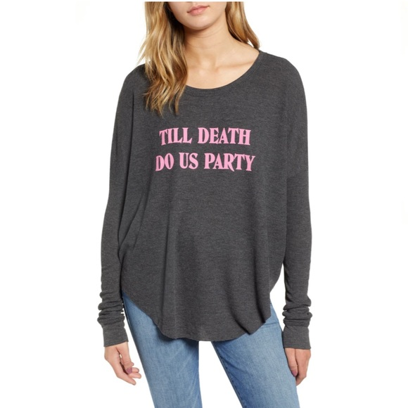Wildfox Tops - Wildfox Till Death Do Us Party Thermal—S